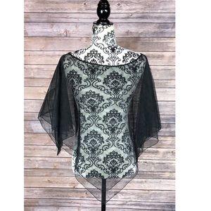 Torrid one size shoulder cover up black lace
